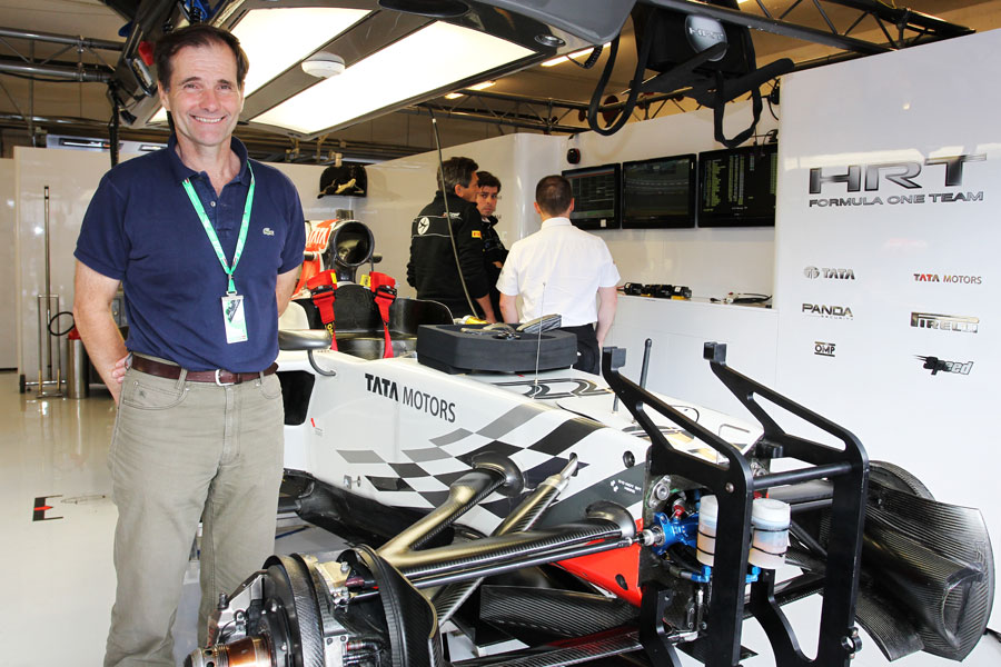 Luis Perez-Sala in the HRT garage
