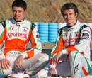 Paul di Resta and Nico Hulkenberg pose for a photo