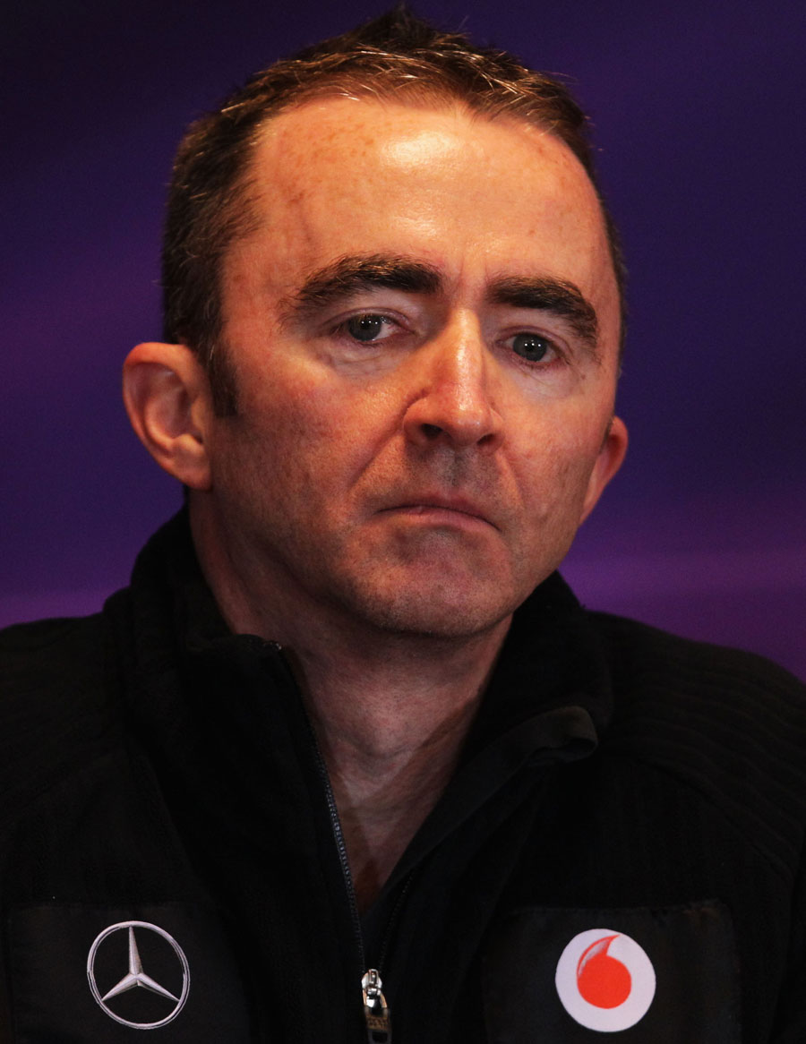Paddy Lowe answers questions in the press conference