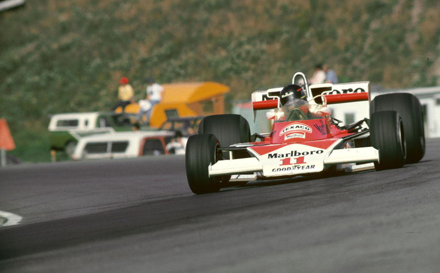 James Hunt on his way to victory