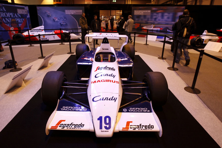 Ayrton Senna's Toleman TG184 at the Autosport International Show
