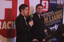 Jake Humphrey and Paul di Resta on the Autosport stage