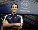 Bruno Senna poses outside the Williams headquarters