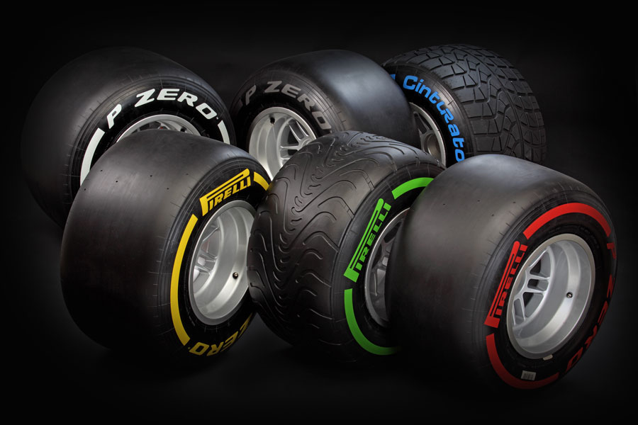 The 2012 Pirelli tyre range, complete with Cinturato intermediate and wet tyres