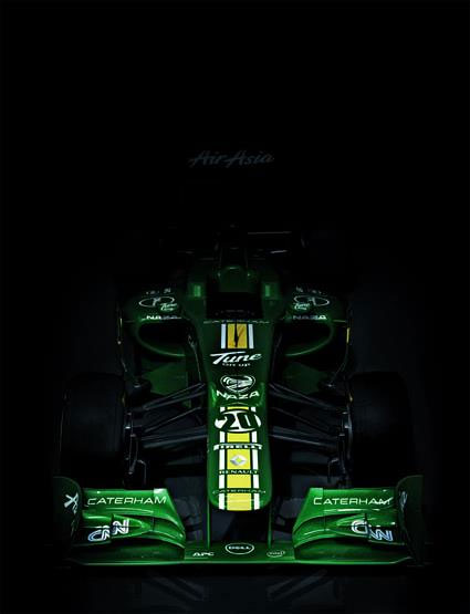 A head-on view of the new Caterham CT01