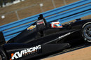 Rubens Barrichello tests a 2012 IndyCar for KV Racing