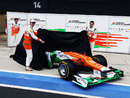 Paul di Resta and Nico Hulkenberg unveil the new VJM05