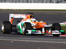 Paul di Resta puts the first few miles on the Force India VJM05