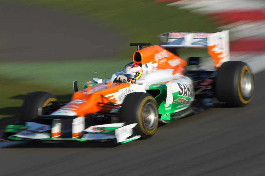 Paul di Resta at speed in the Force India VJM05