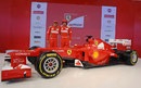 Fernando Alonso and Felipe Massa pose with the new F2012