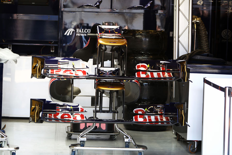 Toro Rosso front wings in the garage betray another stepped nose