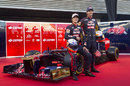 Daniel Ricciardo and Jean-Eric Vergne pose with the new Toro Rosso STR7