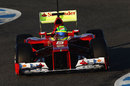 Felipe Massa aims for the apex in the Ferrari F2012