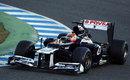 Pastor Maldonado on track in the FW34