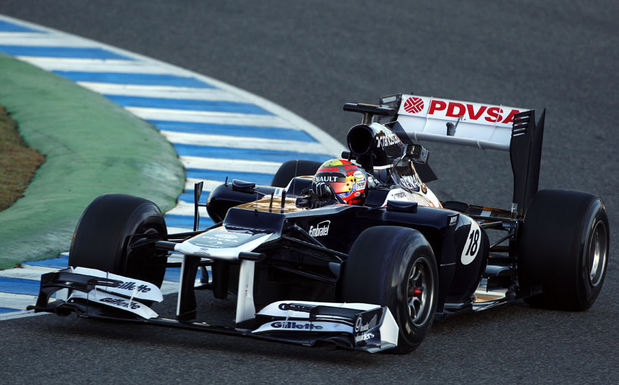 Pastor Maldonado on track in the FW34