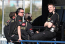 Eric Boullier and James Allison on the Lotus pit wall