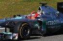 Michael Schumacher on a soft tyre run