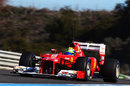 Felipe Massa at speed in the new Ferrari F2012