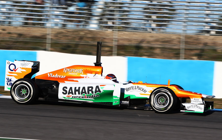 Jules Bianchi on his first day in the Force India VJM05