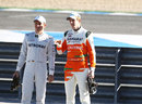 Nico Rosberg and Nico Hulkenberg take part in a feature for German television
