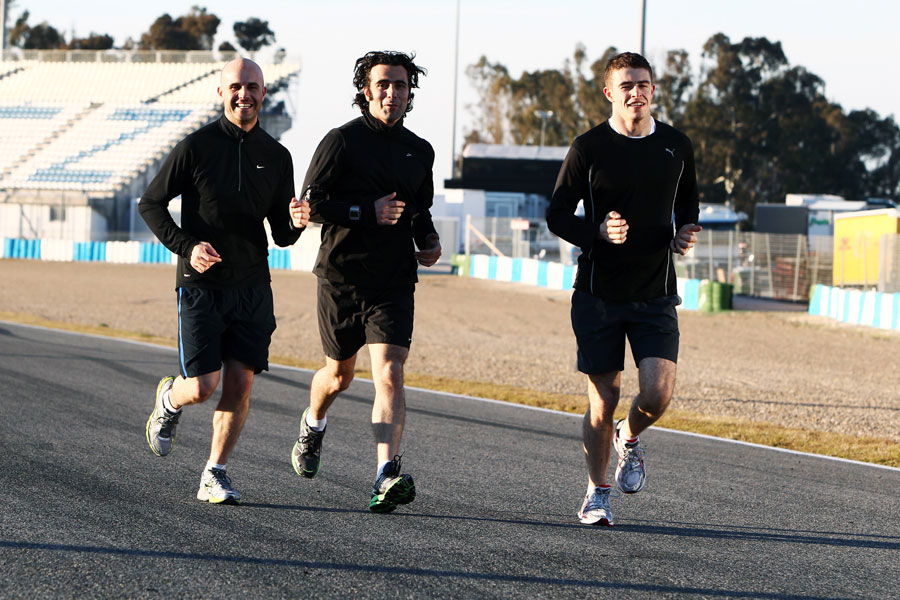 Paul di Resta runs the circuit with his cousins Marino and Dario Franchitti