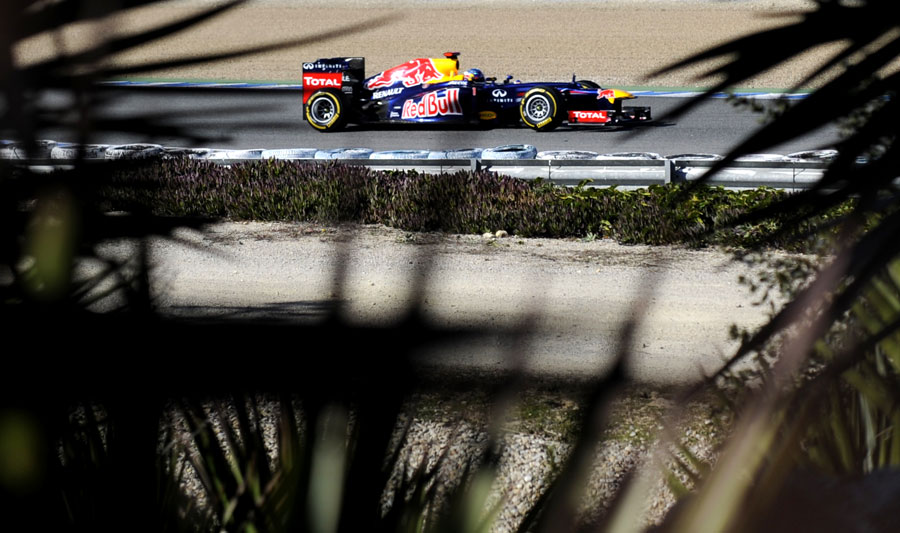 Sebastian Vettel gets some track time in the afternoon following a disrupted morning