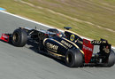 Romain Grosjean racks up the mileage in the Lotus E20