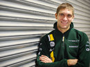 Vitaly Petrov poses in his new team gear