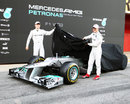 Michael Schumacher and Nico Rosberg unveil the stepped nose on the W03
