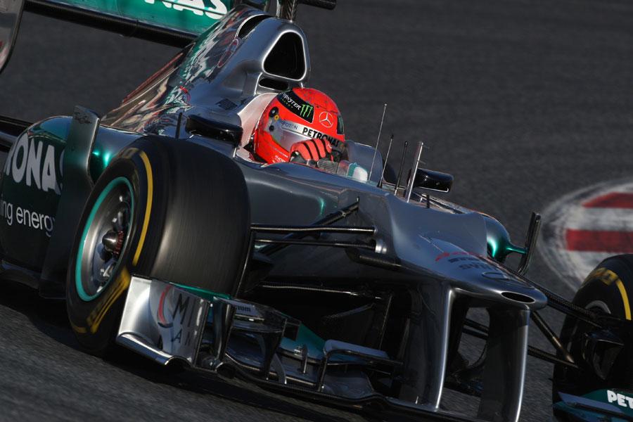 13461 - Schumacher feels 'potential' in W03