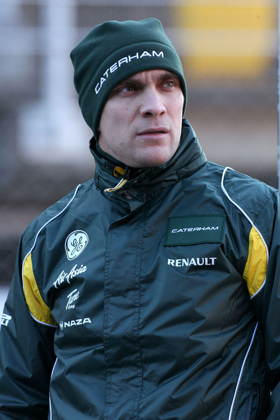Vitaly Petrov in the paddock on Tuesday
