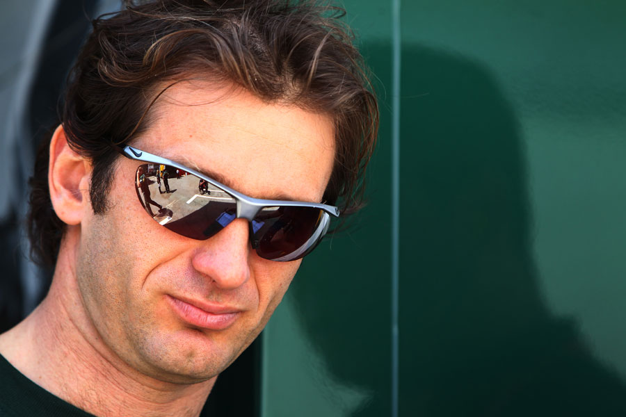 Jarno Trulli in the paddock on Thursday