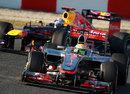 Sebastian Vettel tracks down Lewis Hamilton