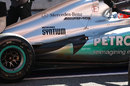 The exhaust configuration on Michael Schumacher's Mercedes
