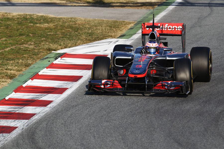 Jenson Button coaxes his McLaren into a corner
