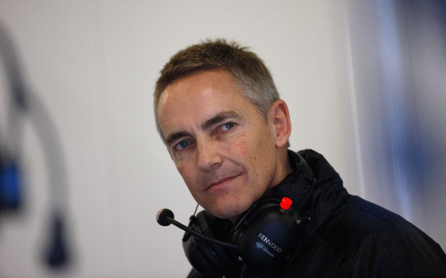 Martin Whitmarsh in the McLaren garage