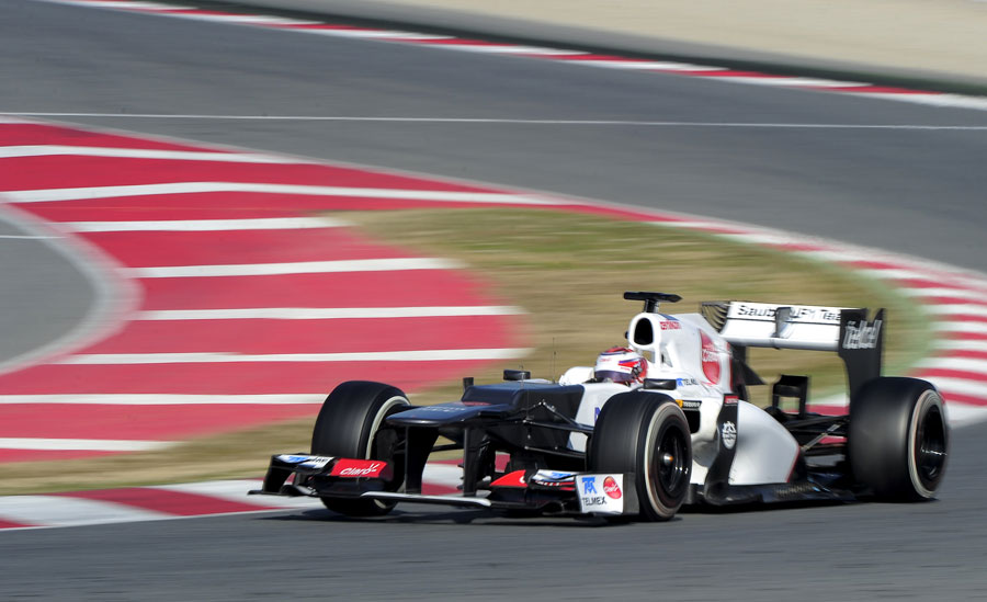Kamui Kobayashi tackles the final corner