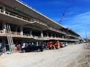 Work continues on the pit building at the Circuit of the Americas