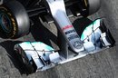 The Mercedes W03's nose