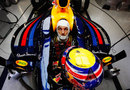 Mark Webber in the cockpit of the RB8