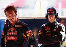 Toro Rosso team-mates Jean-Eric Vergne and Daniel Ricciardo
