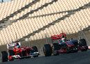 Fernando Alonso follows Lewis Hamilton's McLaren