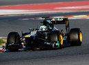 Heikki Kovalainen on track in the Caterham CT01