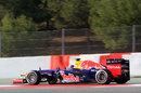 Mark Webber in the updated Red Bull RB8
