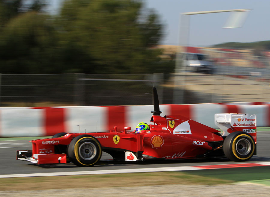Felipe Massa in the Ferrari F2012