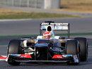Sergio Perez at the chicane