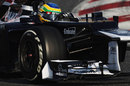 Bruno Senna at the wheel of the Williams FW34