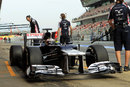 Pastor Maldonado returns to the Williams pit