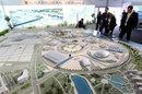 A scale model of the Russian Grand Prix circuit at Sochi