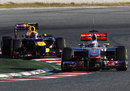Jenson Button leads Mark Webber on track